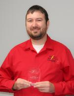 TCEC male employee Andrew Pinkard with 5 Years of Service award
