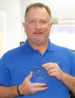 TCEC Male Employee Keith Ruff with 10 years of service award