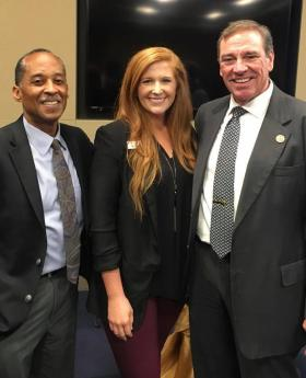 Julius Hackett and Kaitlynn Culpepper meeting with Congressman Neal Dunn